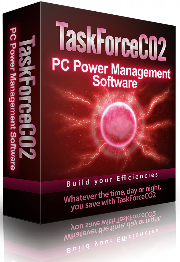 TaskForceCO2 PC Power Management Software Single PC License product Packaging