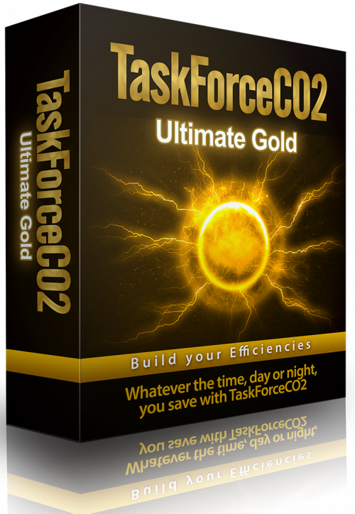TaskForceCO2 PC Power Management Software Ultimate Gold Product Packaging